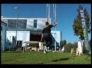King of Slackline Round 5 Invert kneedrop spin