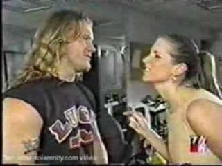 Stephanie and Jericho in the Gym