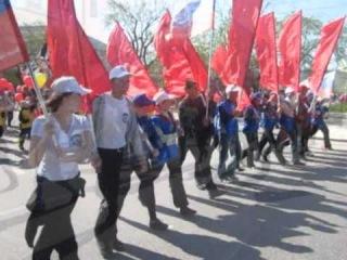 Парад победы в Тюмени 2011