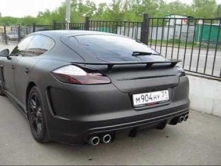 Porsche Panamera черный мат HEXIS
