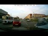 Ишаки на дороге устроили аварию