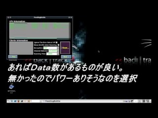 feedingbottle 3.1(Aircrack-ng 1.1)bt4-final-jpでwep解析