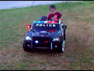 Modified power wheels Dodge Charger Police Car