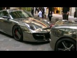 SuperCar Blue Chrome SLR MAYBACH PHANTOM Ferrari 599 Chrome 16M Porsche 997 DUBAI STREET in Tokyo