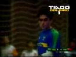 Goleiro Tiago Brasil x Portugal no futsal