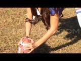 Tehmeena _ Ms. Meena Sexy NY Giants Football Video