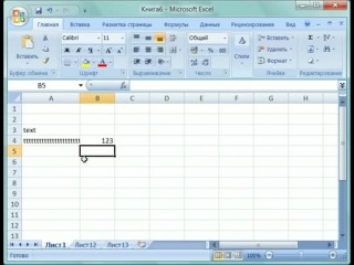 Ввода данных текстового формата в Microsoft Excel