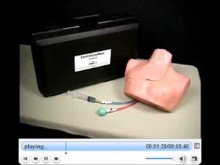 Тренажер грудной клетки для катетеризации вен