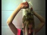 как делать бант из волос