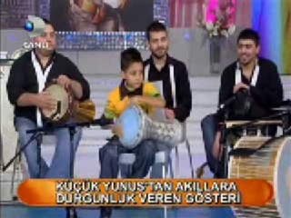 Küçük Yunus - darbuka show 1 (Seda Sayan'da - Ocak 2009)