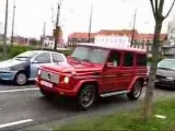 Red Mercedes G55 AMG