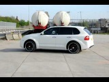Porsche Cayenne Techart Magnum 2007 acceleration & greatsound!