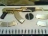 Arab Saudi Ak-47 made of Gold Given as a Gift to the Prince