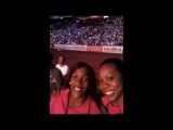 Sanya Richards Videoblogs 20 Post race with Brigette Foster and Usain Bolt
