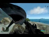 CRYSIS SHARK ATTACK ON LAND TOO GONE MAD