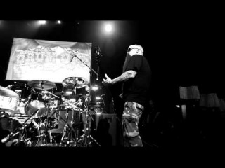 Kerry King & Dave Lombardo (Slayer) sound checking at Guitar Center's Drum-Off finals