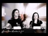 Дмитрий Бозин и Анастасия Животовская на пресс-конференции в Петербурге