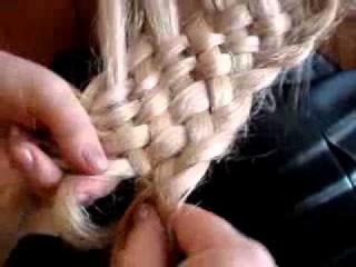 Плетение многопрядной косы-корзинки