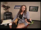 Stephanie McMahon in her office 12.15.02