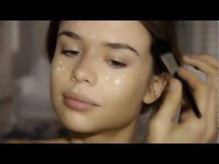 ваниль макияж милая красивая девушка .mp4