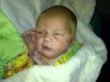 Артём Гудман в возрасте 11 дней. Первое домашнее видео.