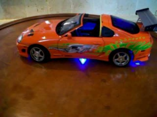1/18 Toyota Supra Twin Turbo Fast and Furious Diecast Toy car wit hLights