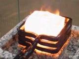Как горит лёд в индукционной печи