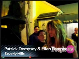Friendly Dempeo kiss! Ellen Pomepo and Patrick Dempsey dine together at Dan Tana's (July 13th 2011)