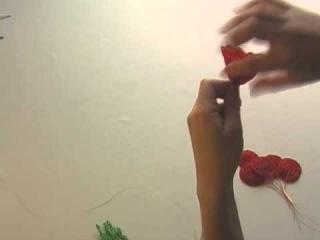 Создание розы из бисера. Урок 5: Сборка розы