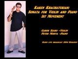 Karen Khachaturian Sonata for Violin and Piano 1st movement   Gabor Szabo Violin