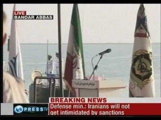 iran launches 4 ghadir submarines into persian gulf [[clip 1 of 3]]