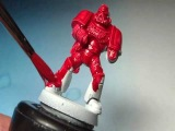 How to paint a Blood Angel Space Marine 01 Armour Base