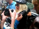 Lady Gaga Meeting Fans Before Sting Concert