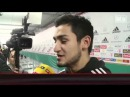Mesut Ozil, Andre Shurlle, Thomas Muller, Ilkay Gundogan interwiev after the match Belgium