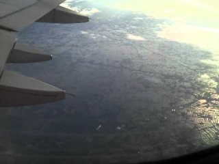 Вид сверху на наводнение в Таиланде