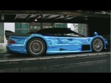 Blue Chrome CLK-GTR AMG & BLACK MASERATI MC12 CORSE  SuperCar in Tokyo