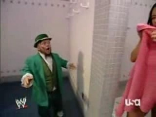 MELINA IN THE SHOWER HORNSWOGGLE CHASING HER!