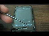 Windows Phone 7 Series skin on a Samsung Omnia