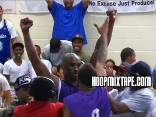 Kobe Bryant Hits CRAZY Gamewinner At Drew League!!!