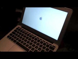 MacBook Air(2010) Распаковка и включение.