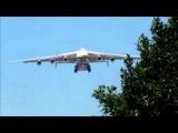 Landing of Antonov 225 cargo plane in Guarulhos, Sao Paulo, Brazil.