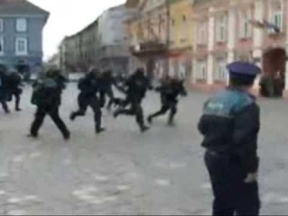 Police in action - asediu in Timisoara - Bataie Poli Timisoara Dinamo Zagreb
