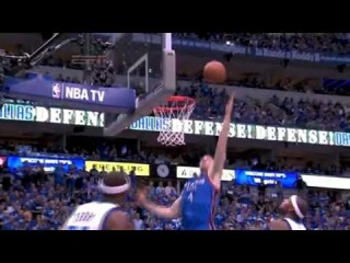 Nick Collison throwsdown Kevin Durant's miss