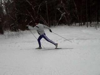 Попеременный двухшажный классический лыжный ход
