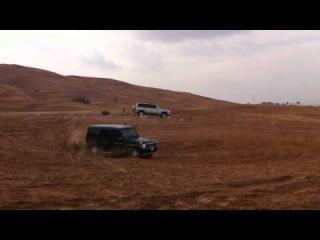 AMG G55 drift in dubai desert