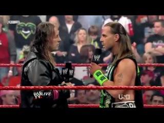 WWE RAW 2010 01 04 Bret Hart Shawn Michaels