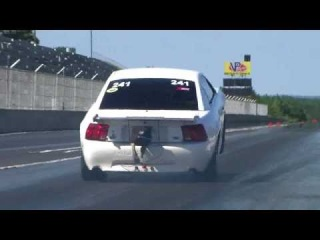 Montgomery Ragland turbo 4.6 powered Mustang wheelie!