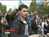 Львов в День Победы 9 мая 2011 года. Позор.