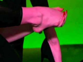 psycho pink natasha tease for me in tv babe leggins