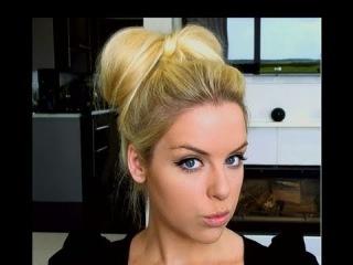 How To: Bow Bun Updo Hair Tutorial(Делаем Бант из Волос)